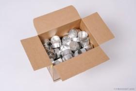 Alu-Teelichthüllen 39 x 18 mm, 100 Stück
