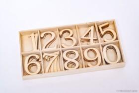 Ziffernsortiment 5x 1 bis 0 aus Holz