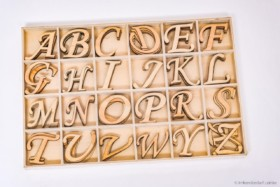 Buchstabensortiment A bis Z aus Holz