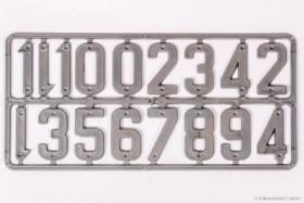 Plastik-Ziffern-Set grau, 40 mm, Satz mit 15 Zahlen