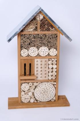 Bieno® Natura Wildbienen- und Insektenhotel Grande mit verzinktem Wetterschutz-Blechdach