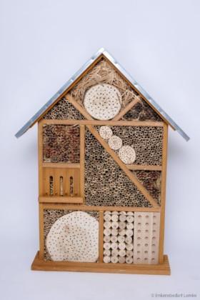 Bieno® Natura Wildbienen- und Insektenhotel Maxi mit verzinktem Wetterschutz-Blechdach