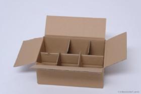 Honig Versandkarton mit Gefache für 6 Gläser