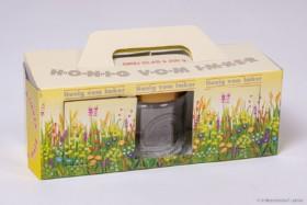 Geschenk-Karton Blumenwiese 3 x 250 g Glas