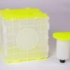 BiWa Box aus neongelbem Kunststoff