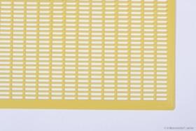 Universal Kunststoff Rundgitter gelb 500 x 500 mm