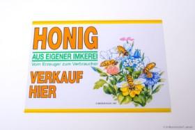 Flores Außen Werbeschild - 35 x 25 cm