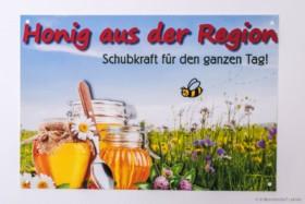 """Außenwerbeschild """"Honig aus der Region"""" - klein 21 x 14,5 cm"""
